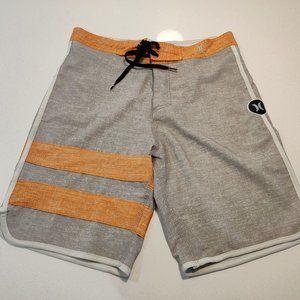 Hurley Phantom Board Short Men Size 30 Gray Orange